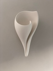 New Monumental Shell Wall Sconce, Artisanal Hand Made Designer Contemporary Plaster Shell Wall Light by Hannah Woodhouse, bathroom lighting, hallway lighting, reception and stairwell light