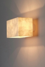 Contemporary Paper Wall Light, Designer Wall Applique in eucalyptus paper by Hannah Woodhouse