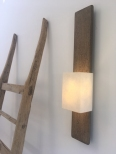 Hand Made Faux Bronze Architectural Wall Light Colm Wall Sconce by Hannah Woodhouse