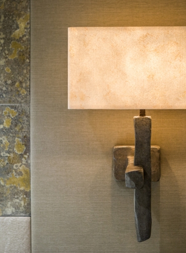 Criss-Cross Wall Light - faux bronze : Art Wall Lights