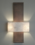 Aged leather architectural Nuit de Chine Wall Light