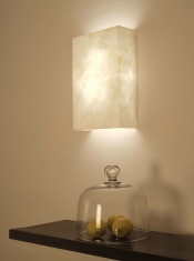 Beautiful hand made paper wall light the Shanghai Wall Light by Hannah Woodhouse