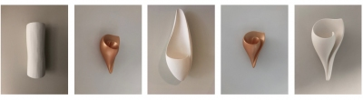 Plaster Wall Lights, Plaster Artisanal hand made Wall Sconces by Hannah Woodhouse